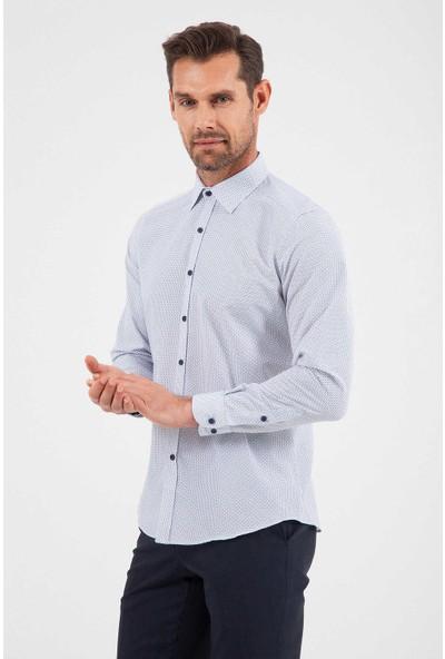 Hatemoğlu Erkek Baskılı Regular Gömlek