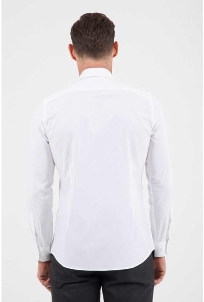 Hatemoğlu Saykı Erkek Desenli Slim Fit Gömlek