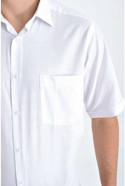 Hatemoğlu Erkek Desenli Kısa Kol Klasik Gömlek