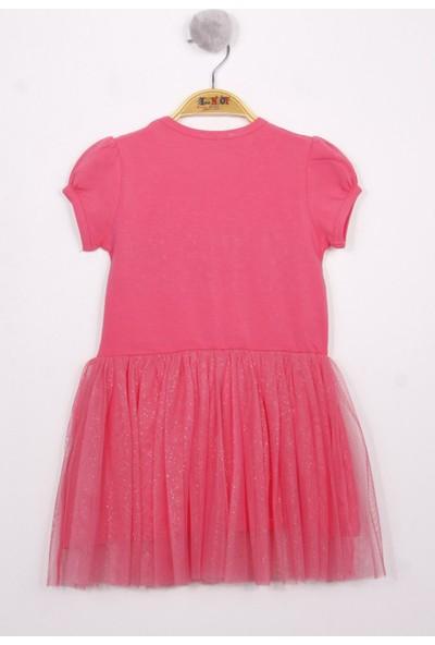 Toontoy Kız Çocuk Star Nakışlı Tüllü Elbise