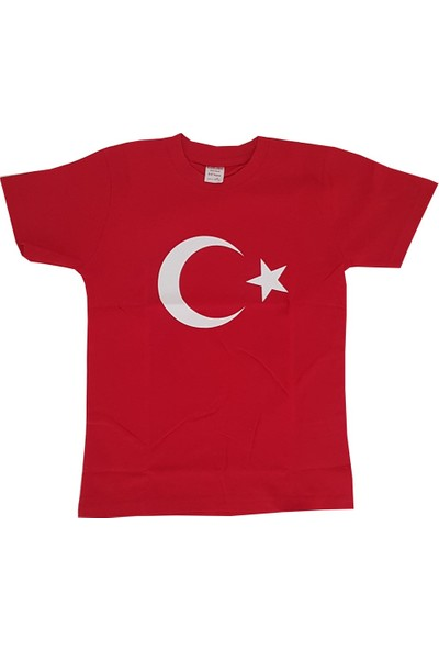 Lollico Ay Yıldızlı Türkiye Bayraklı Kırmızı T-Shirt