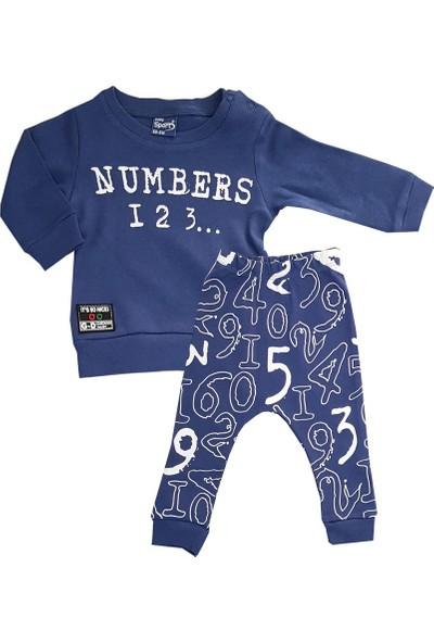 Baby Sport Rakam Baskılı 2'li Erkek Bebek Takım 3-12 Ay