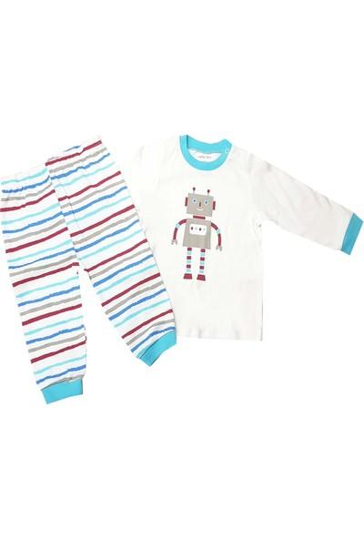 Mother Love Çizgi Erkek Bebek Pijama Takımı