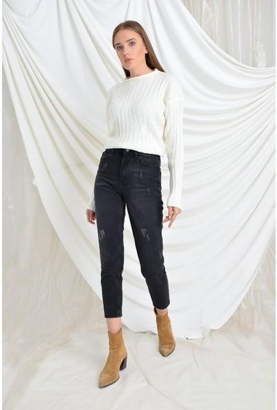 Tena Moda Kadın Füme Dst Mom Jean Pantolon 9KBJNSCDMOM