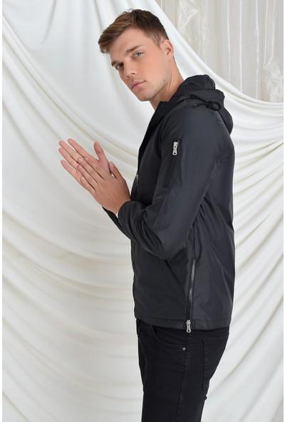 Tena Moda Erkek Siyah Mesamen Yağmurluk 9YEMNROSSO3