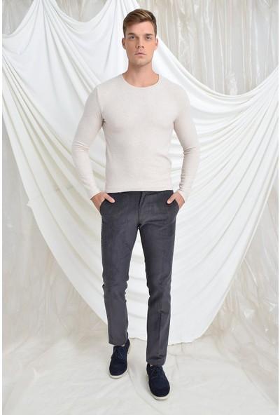 Tena Moda Erkek Antrasit Yan Cep Kadife Pantolon 9YEPNBAR-04