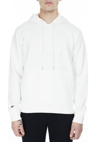 Lacoste Baskılı Kapüşonlu Erkek Sweatshirt SH8590 70V