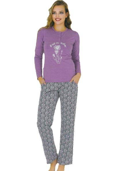 Berland 3110 Kadın Kışlık Pijama Takım