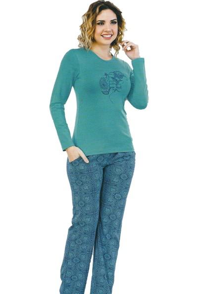 Berland 3077 Kadın Kışlık Pijama Takım