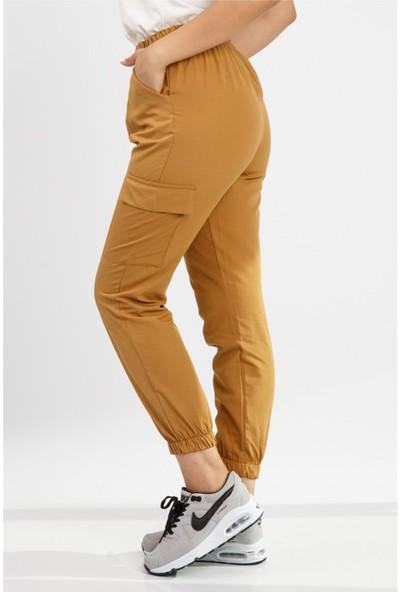 Benguen 1399 Yandan Cepli Spor Pantolon - Hardal