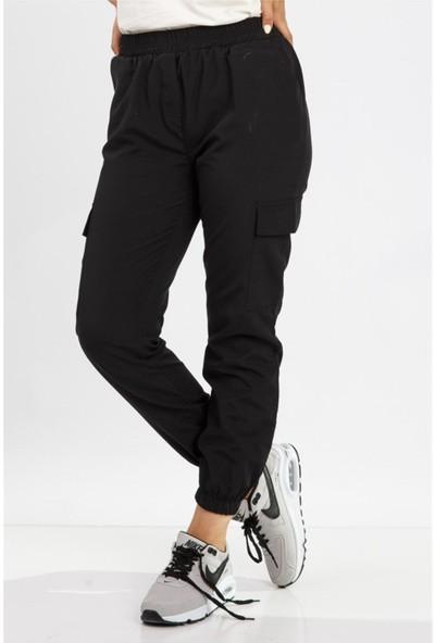 Benguen 1399 Yandan Cepli Spor Pantolon - Siyah