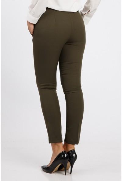 Benguen Kemerli Dar Paça Dabil Pantolon H237 - Haki