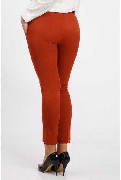 Benguen Kemerli Dar Paça Dabil Pantolon H237 - Kiremit