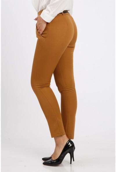 Benguen Kemerli Dar Paça Dabil Pantolon H237 - Taba