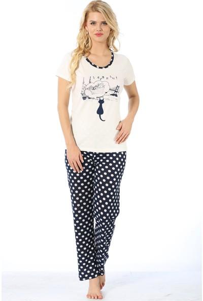 Akbeniz Kadın Kısa Kol Pijama Takımı 3072