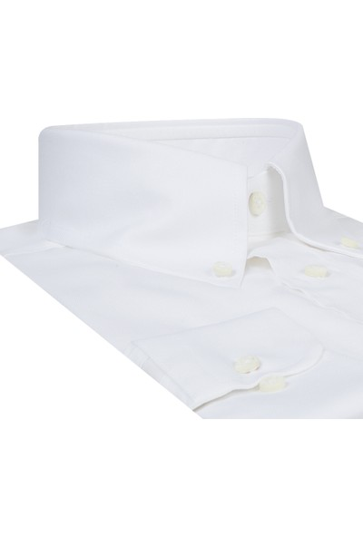 DAMAT Comfort Beyaz Erkek Gömlek