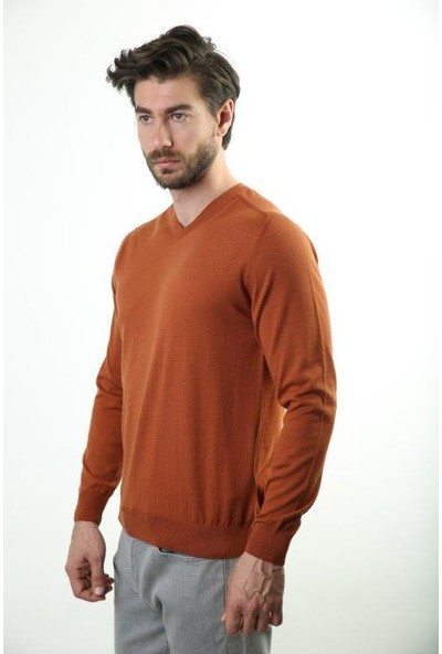 Sweater V Yaka Erkek Triko 2982-1