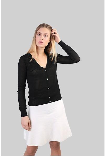 Sweater V Yaka Kadın Yazlık Hırka 2997