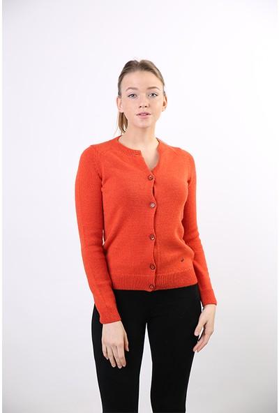 Sweater Bisiklet Yaka Kadın Kışlık Hırka 3148