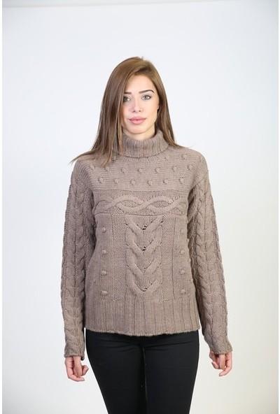Sweater Balıkçı Yaka Kadın Kışlık Kazak 3450