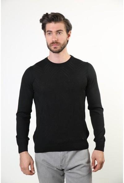 Sweater Bisiklet Yaka Erkek Triko 3545