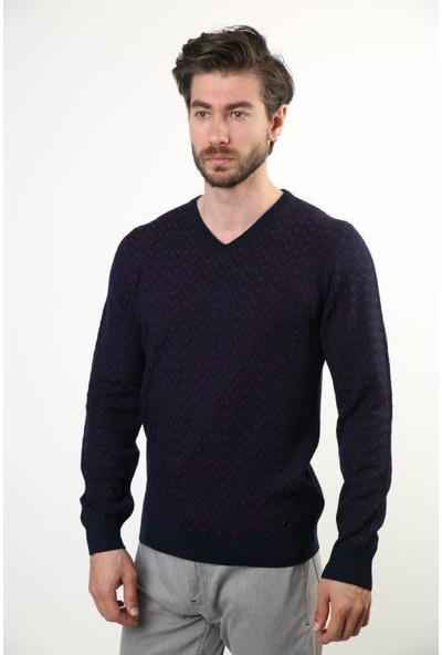 Sweater V Yaka Erkek Triko 3843