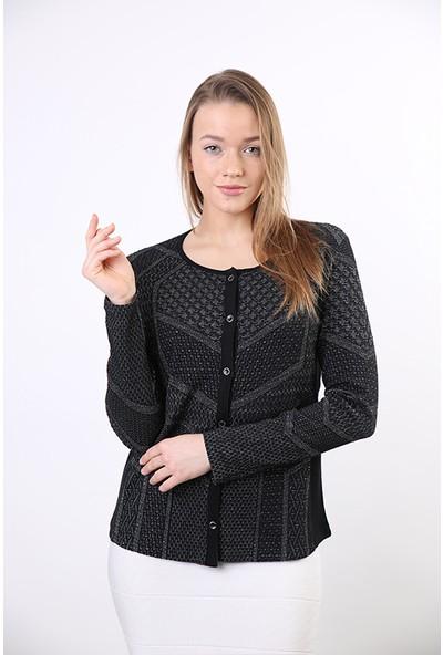 Sweater V Yaka Kadın Kışlık Hırka B-8051