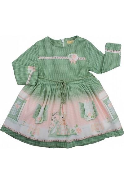 Moonstar 4013 Kız Çocuk Casual Elbise Haki