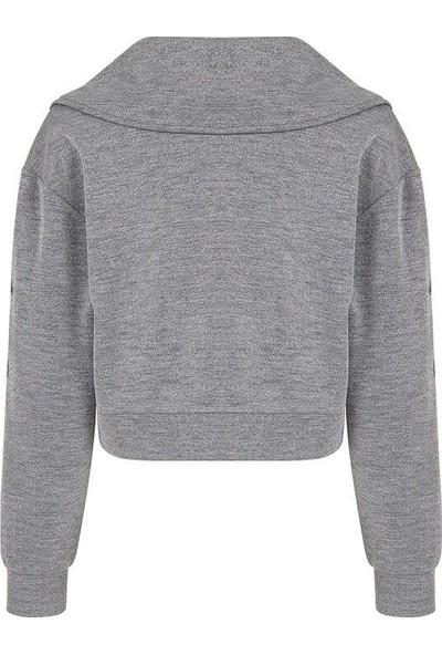 Nocturne 70106 Kadın Sweatshirt Gümüş