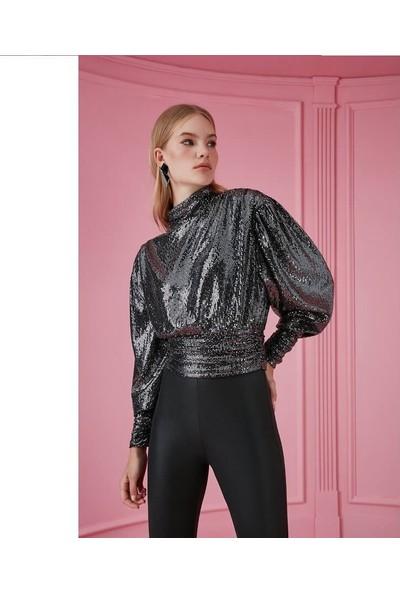 Nocturne 6115 Kadın Bluz Gümüş