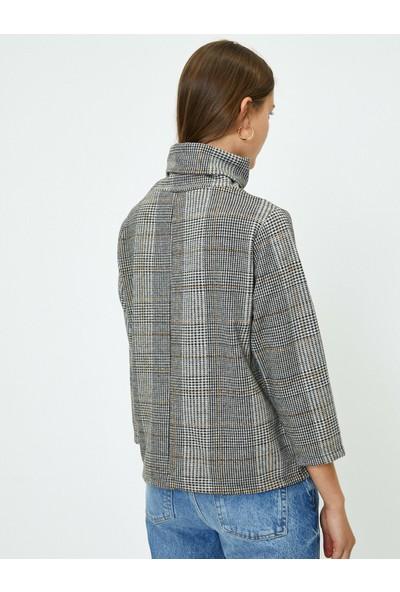 Koton Kadın Kareli Sweatshirt
