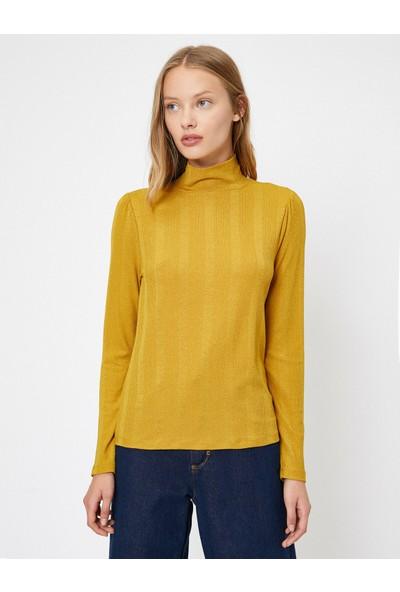 Koton Kadın Yüksek Yaka Sweatshirt