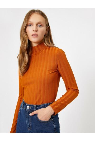 Koton Kadın Çizgili Sweatshirt