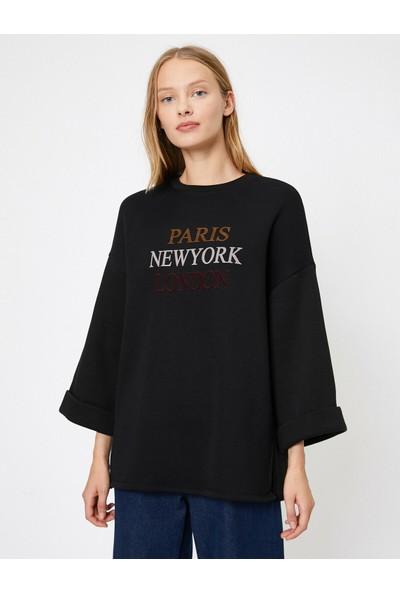 Koton Kadın Yazi Baskılı Sweatshirt