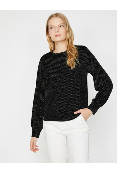Koton Kadın Desenli Sweatshirt