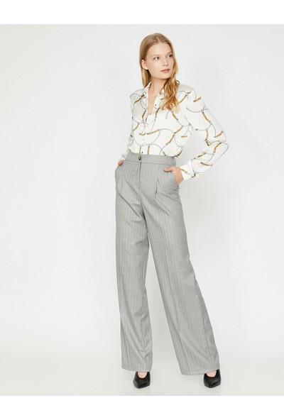 Koton Kadın Düğme Detaylı Pantolon