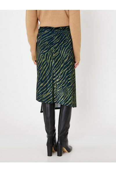 Koton Kadın Zebra Desenli Etek