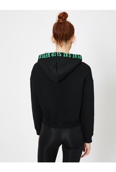 Koton Kadın Kapüşonlu Sweatshirt
