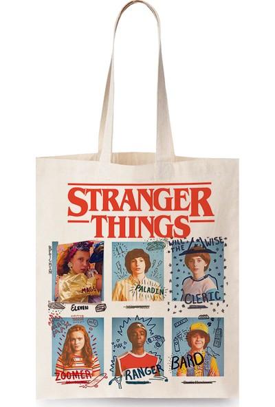 Stranger Things Tasarım Bez Çanta