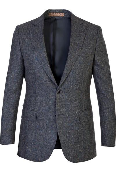 Kiğılı İtalyan Yün Kuşgözü Ceket