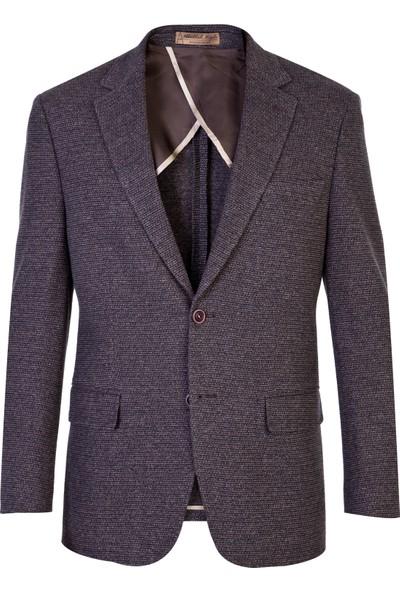 Kiğılı İtalyan Klasik Yünlü Kuşgözü Ceket