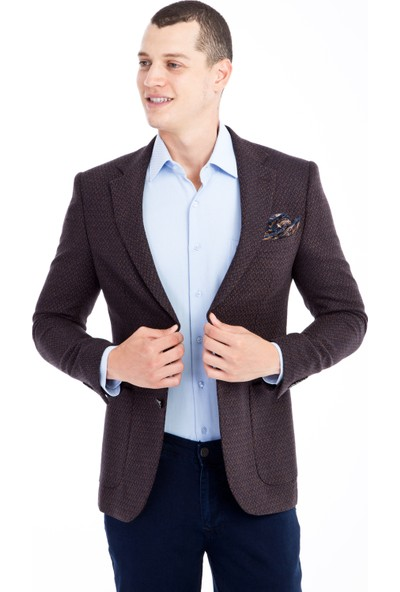 Kiğılı Desenli Ceket