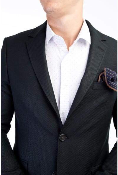 Kiğılı Slim Fit Kuşgözü Ceket
