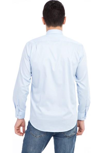 Kiğılı Uzun Kol Non Iron Saten Klasik Gömlek