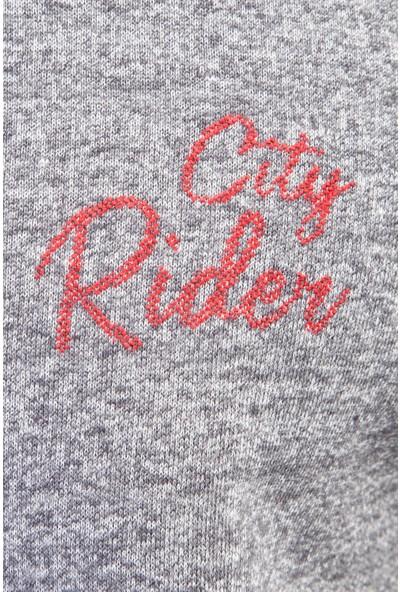 Kiğılı Bisiklet Yaka Slim Fit Sweatshirt