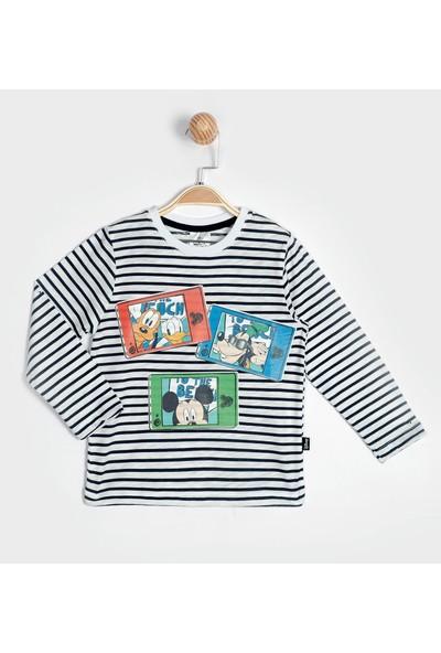 Lisanslı Disney Mickey Mouse Uzun Kol Tişört 15878