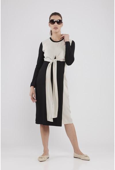 Lyn Devon Hamile Kadın Clark Elbise - Siyah