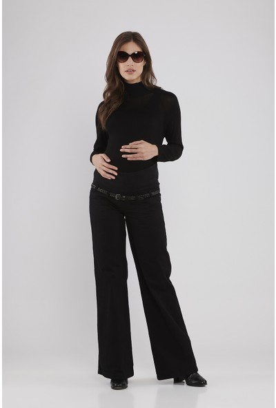 Lyn Devon Hamile Kadın Lauren Pantolon - Siyah
