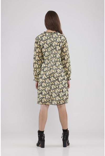 Lyn Devon Hamile Kadın Trace Elbise - Sarı