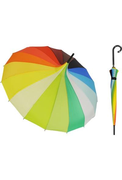 Transformacion Gökkuşağı Desenli Şemsiye